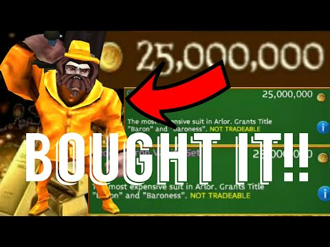 BUYING THE 25M GOLD, BARON VANITY (ARCANE LEGENDS!!!!!)