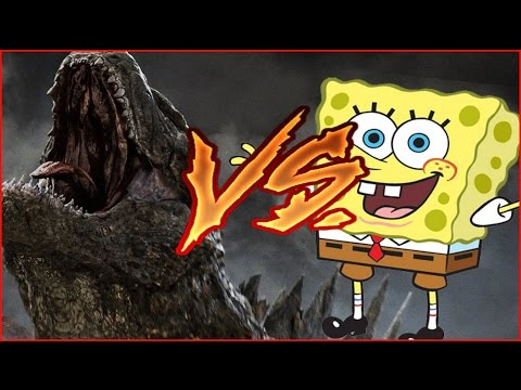 SpongeBob vs Godzilla BUT Its Actually Copyrighted Clips Put Together With Dubstep Music Playing