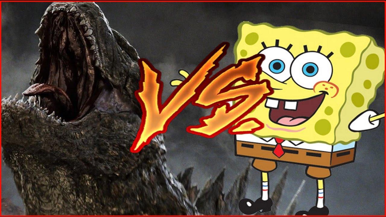 spongebob vs godzilla but its actually copyrighted clips put