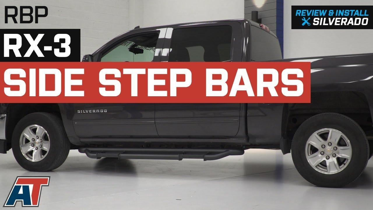 """2007-2018 Chevy Silverado 1500 Extended Cab 3/"""" Black Nerf Bars Side Steps"""