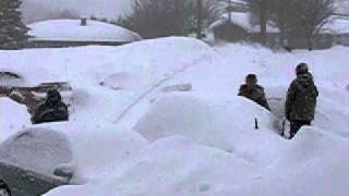 huge snow storm in Sherbrooke Quebec March 7 2011