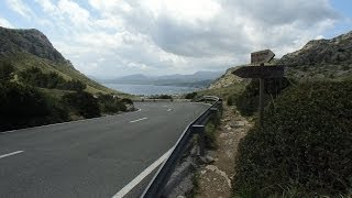 Mallorca Cycling Video for Indoor Bike Training 40 Minute HD Helm Cam Test