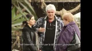 Tbilissi, interview de la TV géorgienne