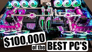 We Built OVER $100000 of INSANE Custom PC's in One Year