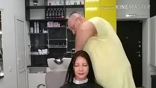 Видеоурок 16 Женская стрижка на длинных волосах