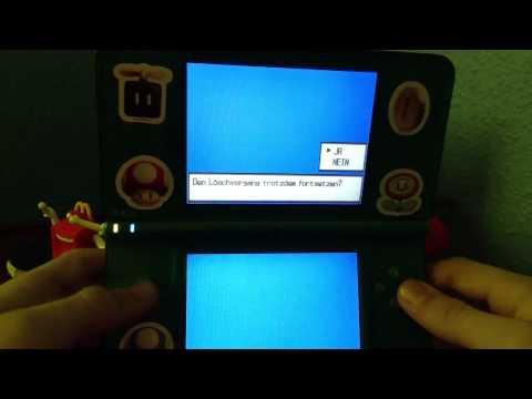 How to delete data from pokemon black and white