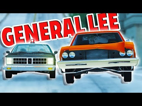 DUKES OF HAZZARD GENERAL LEE POLICE CHASES AND CRASHES! - BeamNG Police Chases