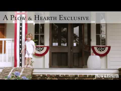Small Half-Round Americana Flag Bunting SKU# 83698 - Plow & Hearth