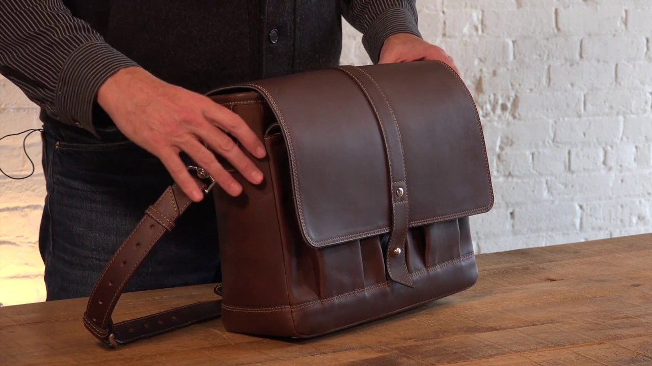 Attache Leather Messenger Bag Review by Pad   Quill - YouTube 6593479753127