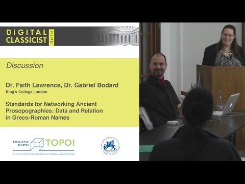 Digital Classicist Seminar Berlin (2014/2015) - Seminar 5 Discussion