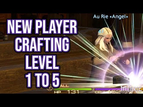 FFXIV 2.55 0582 New Player Crafting Guide Level 1 to 5