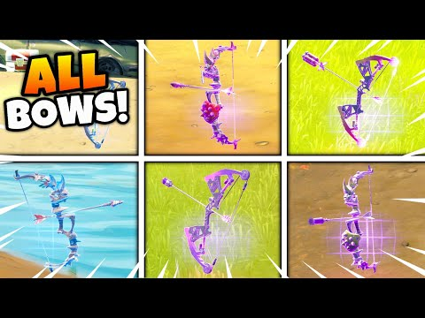 Fortnite ALL BOWS Crafting Guide! How to Craft Bows (Shockwave, Explosive, Stink Bow)