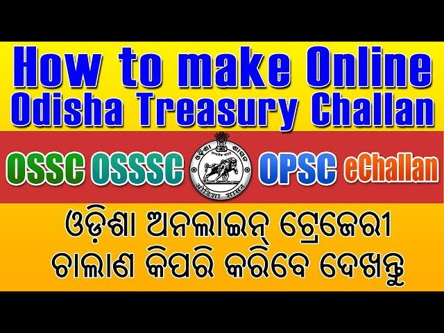 Form treasury odisha challan pdf