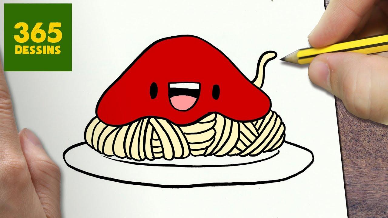 Comment dessiner spaghetti kawaii tape par tape - Image a dessiner ...