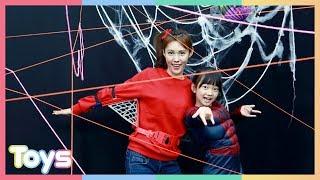 스파이더맨 캐리와 유니의 거미줄에 걸린 꼬마캐빈 구출 대작전!ㅣ캐리와장난감친구들