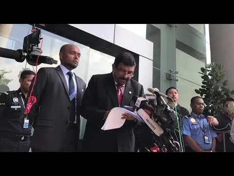 Rosmah Mansor's lawyer speaks to media after anti-graft agen