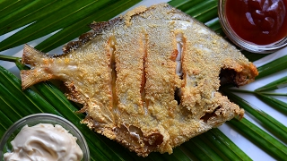 ★ Pomfret Fish Rava Fry | Fish Recipes unlike many Chicken Recipes | Fish Fry | Non Veg reci