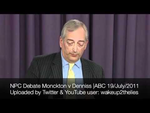 National Press Club Debate Christopher Monckton v Richard Denniss 2011 Address