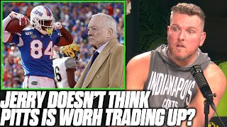 Pat McAfee Reacts To Jerry Jones Saying Kyle Pitts Is NOT Worth Trading Up For