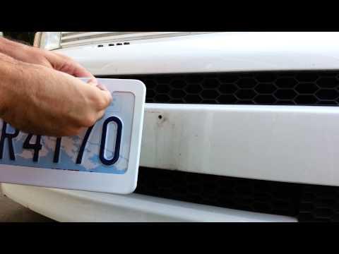License Plate Frame Installation