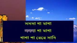 Amar Maje Nei Ekhon Ami | Bangla Karaoke With Lyrics