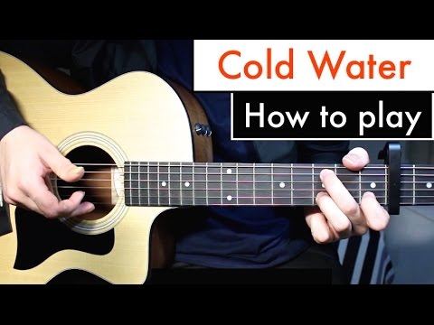 Cold Water Justin Bieber Major Lazor Guitar Lesson Tutorial