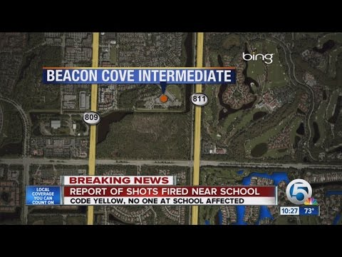 Report of shots fired investigated near Beacon Cove Intermediate School in Jupiter