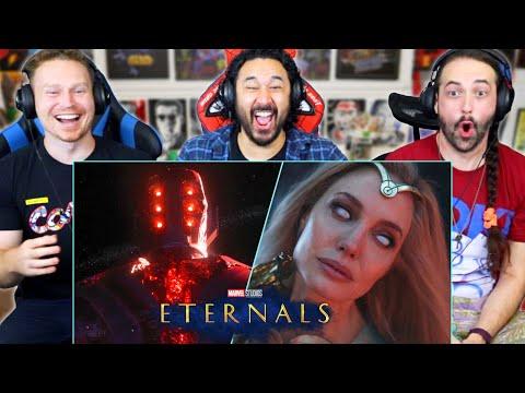 ETERNALS FINAL TRAILER REACTION!! (Marvel Studios'   Breakdown   Celestials)