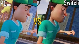 Hello Neighbor Graphics Comparison and Review (PC vs Nintendo Switch)