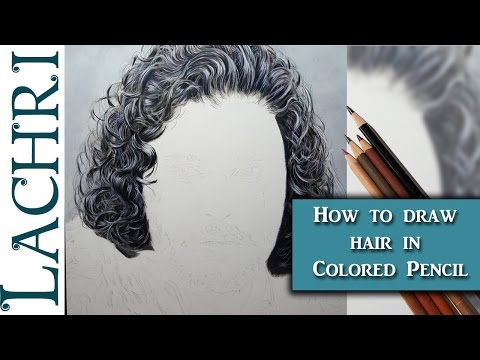 How to draw hair in colored pencil w/...
