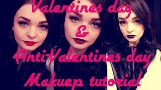 Valentines Day and Anti-Valentines day makeup tutorial Thumbnail