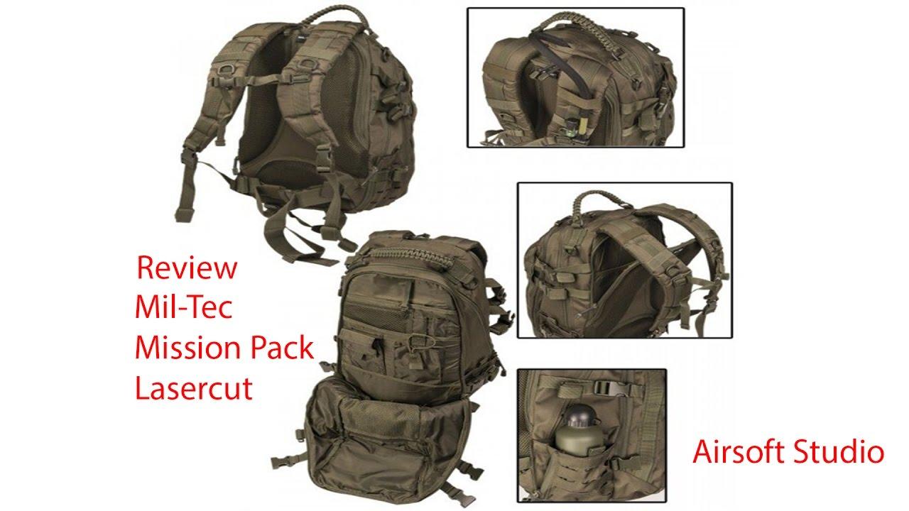 Rucksack Mission Pack Laser Cut LG multitarn