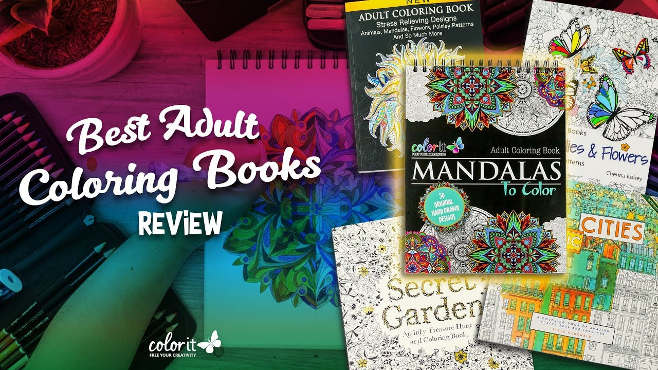 The Best Adult Coloring Books Review