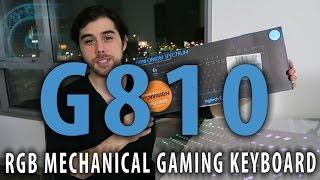 Logitech G810 Orion Spectrum Keyboard - Review + Unboxing
