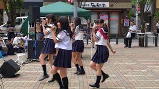 この日の4曲目(ラスト)。 星名はる・見上瑠那・仲地陽和・松岡未都・...