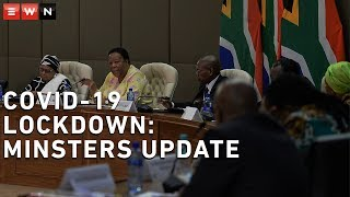 Ministers representing the COVID -19 national command council gave an update on the COVID 19 lockdown in South Africa.