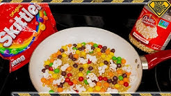 Make Colored Popcorn, From Skittles (Testing Viral Videos)