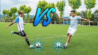 RETOS DE FÚTBOL | Hamza VS Delantero09