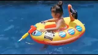 칠나무 여름 어린이 야외 물놀이 에어 승용차 수영장