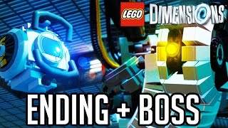 LEGO Dimensions Portal ENDING and GLADOS BOSS!! Gameplay Walkthrough Part 3 (LEGO Portal 2 Level)