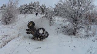 Квадроцикл BRP упал с горы !!!