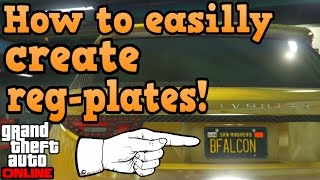 GTA online guides - How to create custom license plates