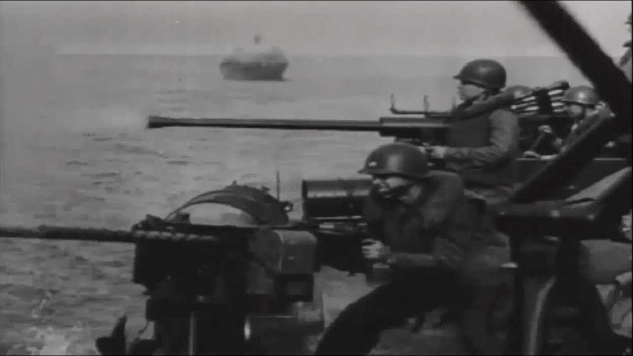 Pt Boats In Action On Coastal Oil Installations Borneo Ww Combat Video Footage W Sound