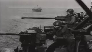PT Boats in Action Attack on Coastal Oil Installations Borneo WW2 Combat Video Footage w/ Sound