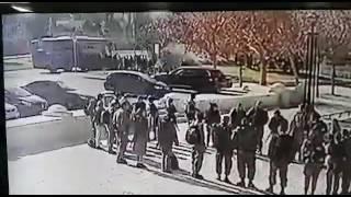 عملية دهس جنود الاحتلال  الصهيونى في مدينة القدس وفرارهم كالفئران المذعورة