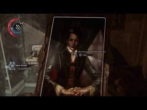 Dishonored 2 - The Crone's Hand Saloon: Outsider Shrine, Electrical Burst, Gold, Bonecharm Location