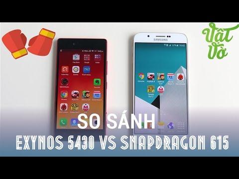 Vật Vờ - So sánh Exynos 5430 và Snapdragon 615: Galaxy A8 vs Lenovo Vibe Shot