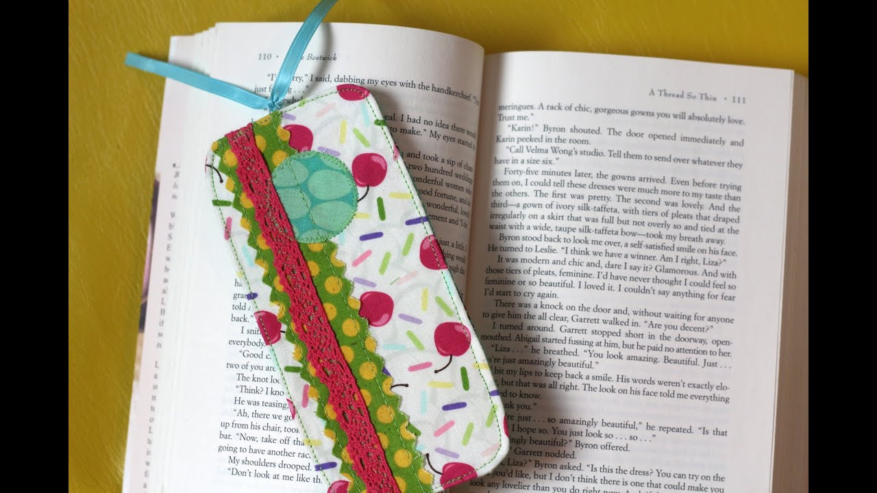 Scrappy Fabric Bookmark Scan N Cut Tutorial Youtube
