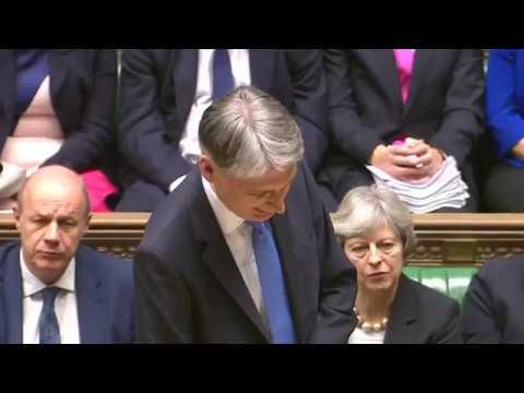 UK finance secretary delivers 2017 budget
