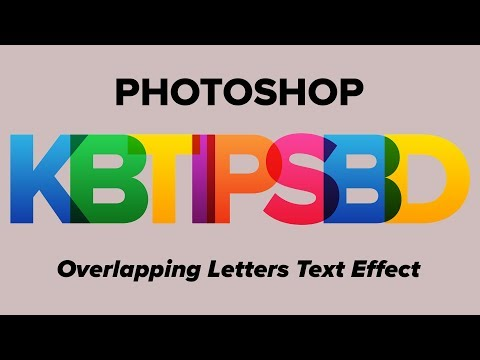How to Make Multi Color Text Effect in Photoshop CC [Tutorial] | KB Tips thumbnail